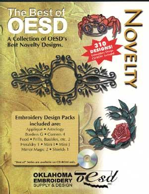 OESD The Best Of Novelty Embroidery CD