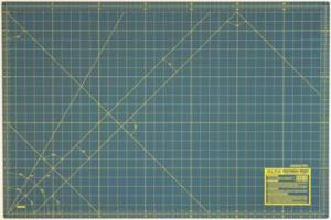 "Olfa NCM L 24"" x 36"" 3 layer Rotary Cutting Mat in Green"