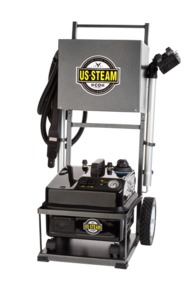 "Euro Steam, EAG6100, ES6100, Commercial Vapor Cleaner, Continuous Fill, 3L Boiler 330F, 5L Tank, 16A,1600W, 85PSI, 6Bar, 4""Wheels, 13Tools, 12'Hose, 14'Cord, ITALY"