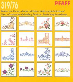Pfaff 31976 Borders and Corners Embroidery Card