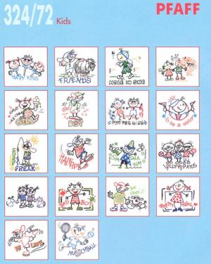 Pfaff 32472 Kids Embroidery Card