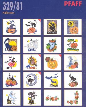 Pfaff 32981 Halloween Embroidery Card  for Pfaff Home Embroidery Machines or Amazing Box