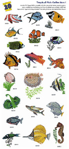 Amazing Designs / Great Notions 1125 Tropical Fish Multi-Formatted CD
