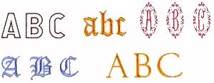 Pfaff No. 10 Monograms Embroidery Card