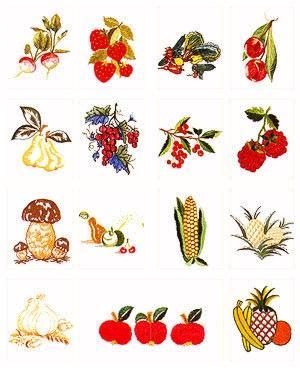 Pfaff No. 13 Fruits Embroidery Card