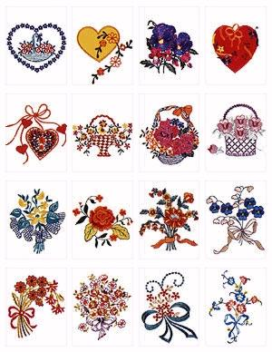 Pfaff No. 15 Mother's Day Embroidery Card
