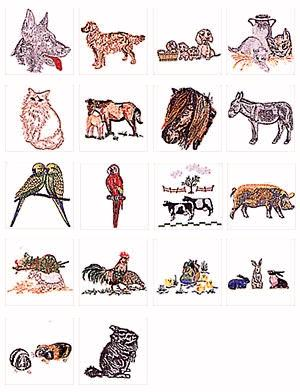 Pfaff No. 19 Pets Embroidery Card