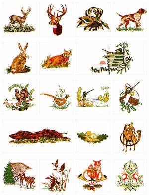 Pfaff No. 21 Wildlife Embroidery Card