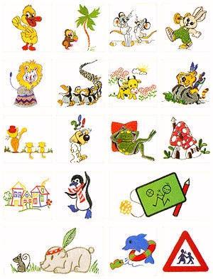 Pfaff No. 22 Children Embroidery Card