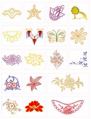 Pfaff No. 25 Richelieu Embroidery 20 Designs Card 7570,7560, 2140,2170