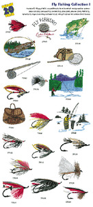 Amazing Designs / Great Notions 1128 Fly Fishing Embroidery  Multi-Formatted CD