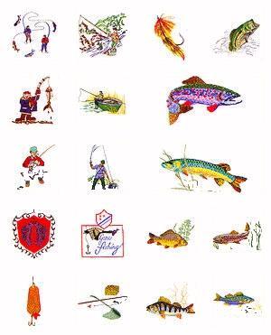 Pfaff No. 33 Fishing Embroidery Card