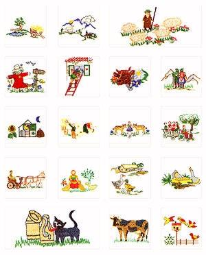 Pfaff No. 44 Country Life Embroidery Card