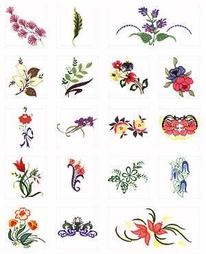 Pfaff No. 46 Modern Plants Embroidery Card