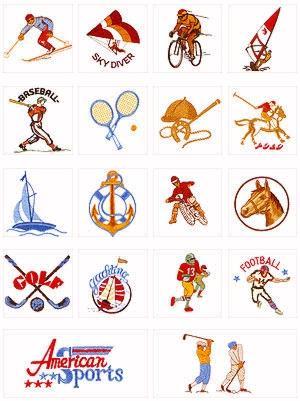 Pfaff No. 9 Sports Embroidery Card