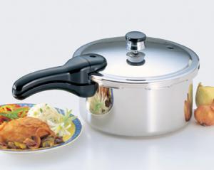 Presto 01341 Pressure Cooker, Bimetal Clad Base, 4 Quart Liquid, 3.8Lnohtin