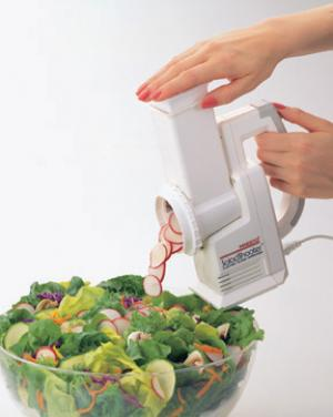 Presto 02910 Salad Shooter Electric Slicer Shredder 66W - Point & Shoot for vegetables, fruits, cheese, nuts and making soups, pizzas, tacos, desserts