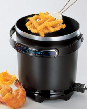 Presto 05420 FryDaddy Electric Deep Fryer 1200W, 4 Cups, Non Stick,  Handy Scoop for fries, chicken, onion rings and more