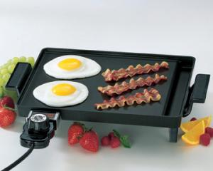 "Presto 07211 ""Liddle Griddle"" 1000 Watt Non-Stick Mini Griddle with 10.5 x 8.5"" Cooking Surface"