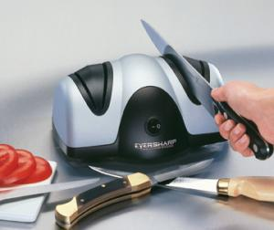 Presto 08800 Ever Sharp Electric Knife Sharpener, Two Stage System Grinds, then Fine Hones and Polishes, 120V AC, 60W, for Kitchen and Sporting Knives