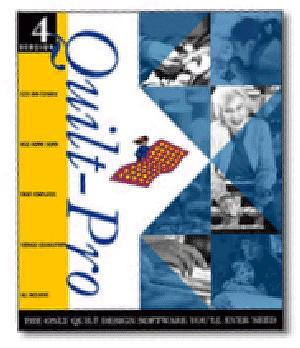 Quilt Pro Version 4 Quilting Software with 1000's of Fabric Scans