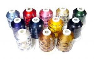 Robison Anton 12 Color Spools x 1100 YDS Rayon Machine Embroidery Thread Kit