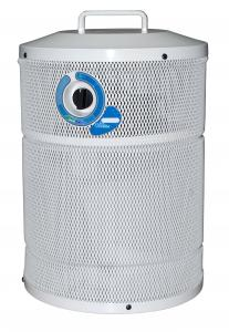 AllerAir AirTube Vocarb Air Purifier,  Variable Speed, 100 CFM, 40-60db, 6ft Cord, 16lb Carbon Filter, Medical-Grade HEPA