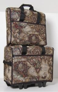 Bluefig Bags, TB20, Wheeled, Sewing Machine Bag, and EMB19, Embroidery Arm, Project Bag, Combo, Dawn or Ariel, Tapestry, Brother, Bernina, Janome, Pfaff, Viking