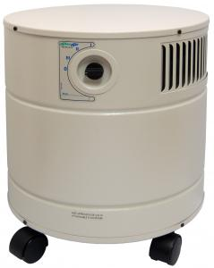 "AllerAir 4000 D Exec Air Cleaner Purifier 15x17.5"" on Casters, 400CFM, 50-75dB, 8'Cord, 3Speeds, 16Lb 3"" carbon filter, Micro-HEPA & pre-filter, 44Lbs"