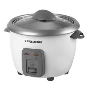 Black                                     & Decker RC3406 6 Cup Rice Cooker 9x9x7