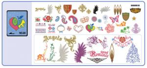 Brother SA380 No. 80 Denim Embroidery Card 47 Designs .pes Format