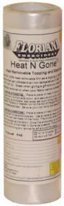 "Floriani FHG1010 Heat N Gone Removable Embroidery Stabilizer Topping Film 10""x10Yards"