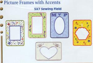 Dakota Collectibles F70348 Picture Frames With Accents Embroidery Designs Multi-Formatted CD