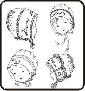 Old Fashion Baby Bonnets #2 Collection Sewing Patterns By Jeannie Baumeister