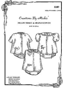 Creations by Michie CB109 Infant Shirt & Diaper Cover Pattern Size NB-6mo