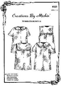 Creations by Michie CB113 Toddler Romper 113  Pattern Size 2-5