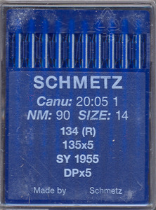 Schmetz S134R 100 Needles Size 18 for Handi Quilter, Juki TL2200QVP/-S, Schmetz, S134R, German, Box of 100, Loose Needles, like Organ134R, 135x5, 135x7, 797, SY1955, DPx5, Industrial Sewing Machine,Needles, 100 / box, packaged, Schmetz German S134R Box 100 Regular Needles GERMANY (Organ 134, 134R, 135x5 135x5MR, 135x7, 797, SY1955, DPx5, DPX7 Industrial Sewing Machine Needles