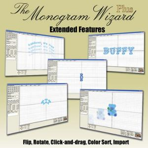 Monogram Wizard Plus Extended Features, This collection works with Monogram Wizard Plus only - Click & Drag - Flip Horizontal - Flip Vertical - Rotate