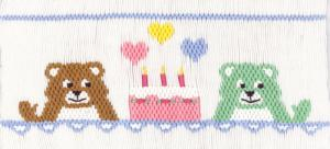 Cross-eyed Cricket CEC182 Birthday Bears Smocking Plate