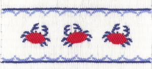Cross-eyed Cricket CEC213 Blue Crabs Smocking Plate