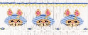 Cross-eyed Cricket  CEC183 Bunny Bonnet Smocking Plate