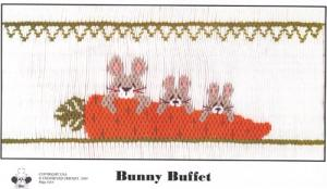 Cross-eyed Cricket CEC205 Bunny Buffet Smocking Plate
