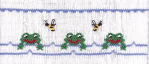 Cross-eyed Cricket CEC171 Frog Pond Smocking Platenohtin