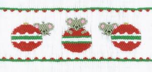 Cross-eyed Cricket CEC151 Chris Mice Ornaments Smocking Plate Pattern