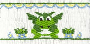 Cross-eyed Cricket CEC195 Dragon Smocking Plate