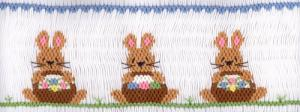 Cross-eyed Cricket  Easter Baskets #185  Smocking Plate