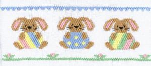Cross-eyed Cricket Easter Egg Bunnies #147 Smocking Plate Sewing Pattern