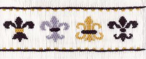 Cross-eyed Cricket  Fleur de Lis #174 Smocking Plate