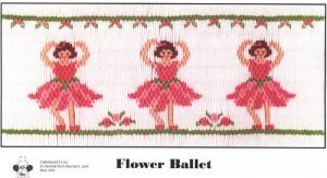 Cross-eyed Cricket  Flower Ballet #206 Smocking Plate