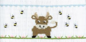 Cross-eyed Cricket  Fredinand the Bull  Smocking Plate